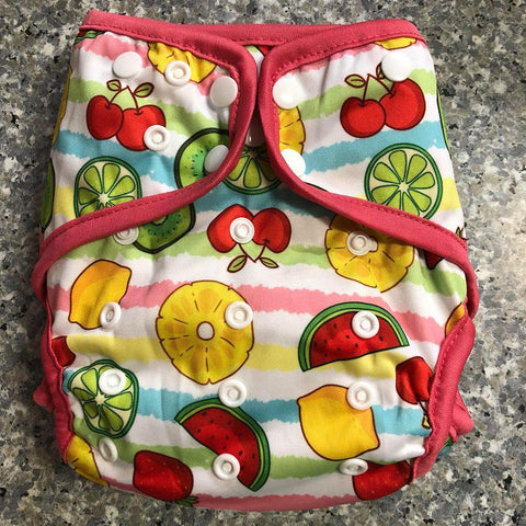 OSFM Nappy Cover - Fruits - Chirpy Cheeks Nappy Store - cloth nappies, wetbags, mama pads, breast pads, swim nappies