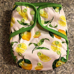 OSFM Nappy Cover - Lemons - Chirpy Cheeks Nappy Store - cloth nappies, wetbags, mama pads, breast pads, swim nappies