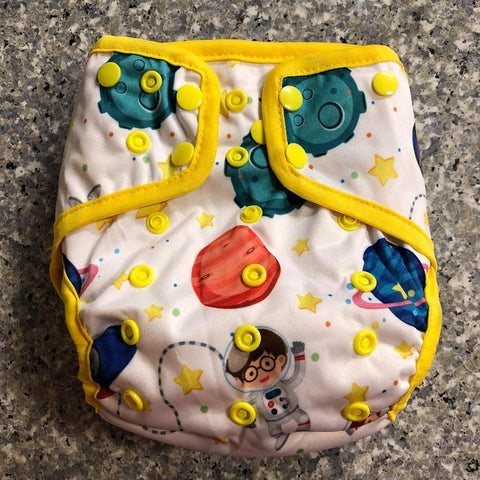 OSFM Nappy Cover - Planets - Chirpy Cheeks Nappy Store - cloth nappies, wetbags, mama pads, breast pads, swim nappies