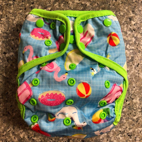 OSFM Nappy Cover - Pool - Chirpy Cheeks Nappy Store - cloth nappies, wetbags, mama pads, breast pads, swim nappies