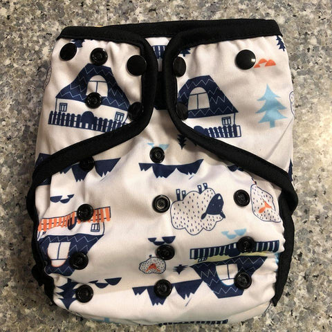 OSFM Nappy Cover - Sheep - Chirpy Cheeks Nappy Store - cloth nappies, wetbags, mama pads, breast pads, swim nappies