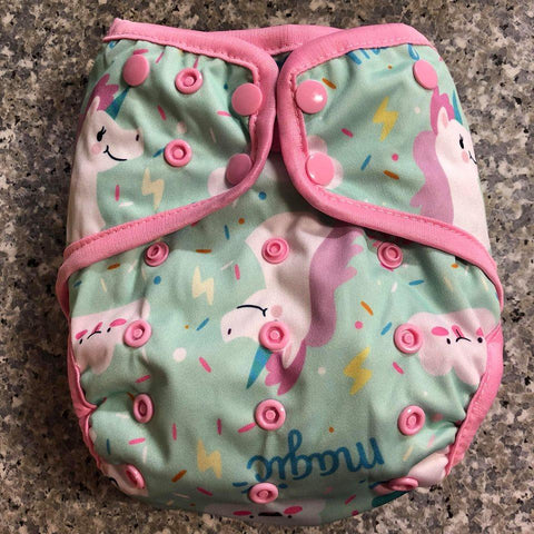 OSFM Nappy Cover - Unicorn - Chirpy Cheeks Nappy Store - cloth nappies, wetbags, mama pads, breast pads, swim nappies