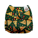 OSFM Pocket Nappy - G1006 Pizza - Chirpy Cheeks Nappy Store - cloth nappies, wetbags, mama pads, breast pads, swim nappies