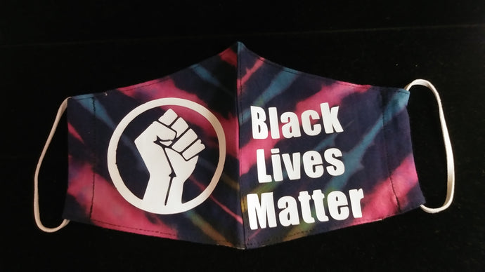 Black Lives Matter Tie-Dye Cotton Face Mask