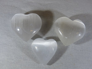 Selenite - Heart, Small