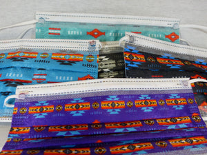 Singles - Native Print Disposable Face Masks