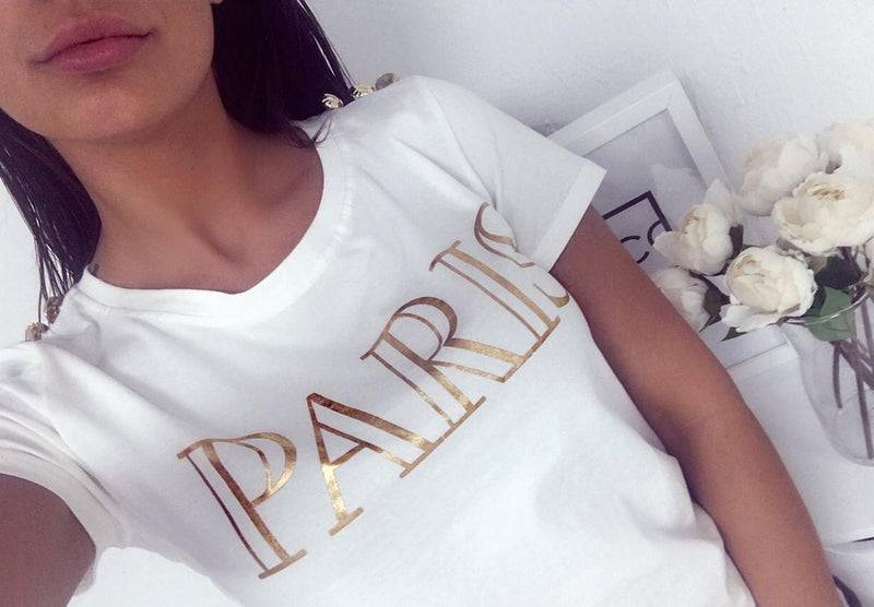 Balmain Paris Inspired T-Shirt - White