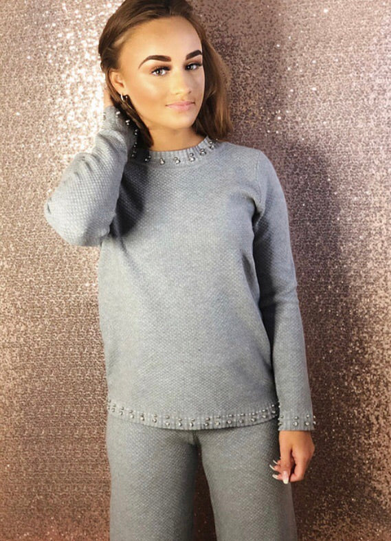 Freya Two Piece Co-Ord - Grey