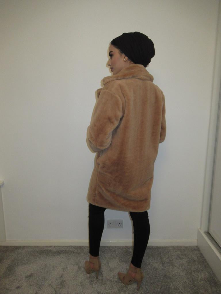 MS x SI Faux Fur Soft Coat - Tan