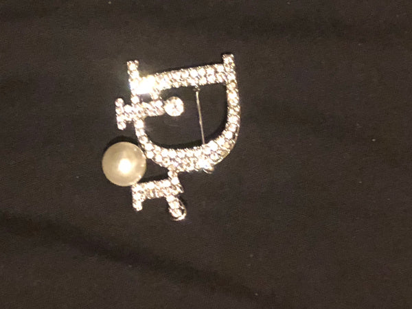Dior Inspired Pearl Brooch