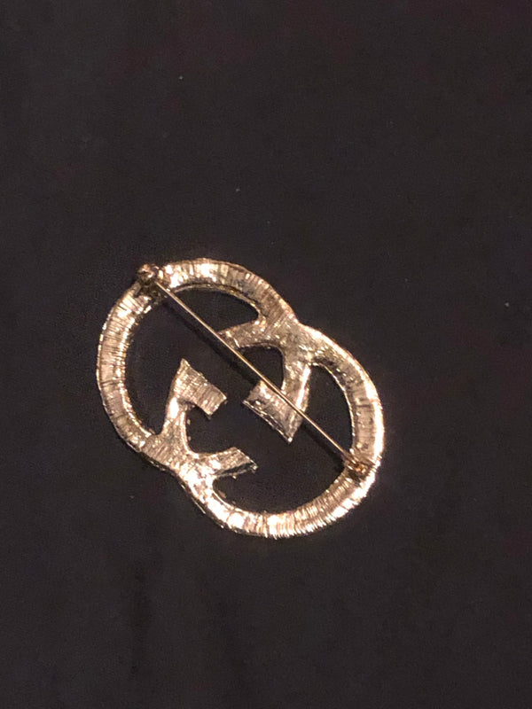 Gucci Inspired Diamond Brooch