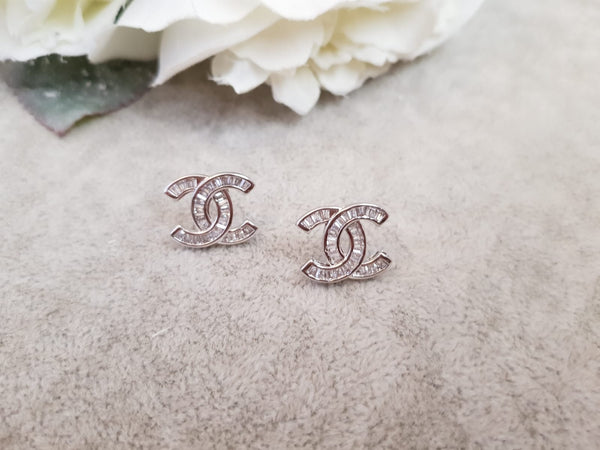 Designer Inspired Diamonte Earrings