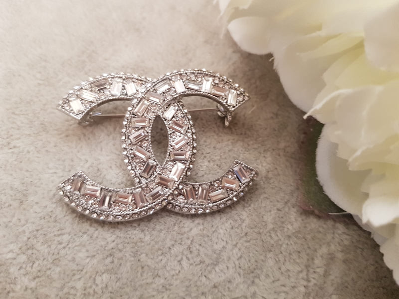 Designer Inspired Crystal Brooch