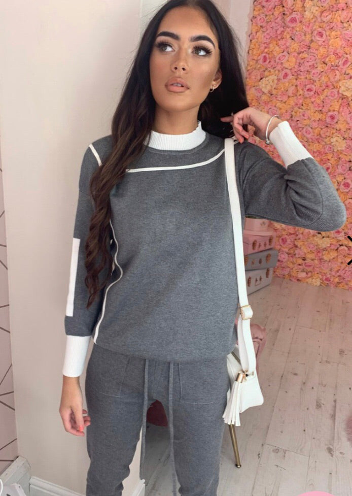 Emma 2 Piece Loungeset - Grey