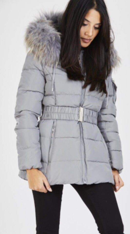 Attentif Paris Parka Raccoon Fur Coat- Light Grey (Light Grey Fur)