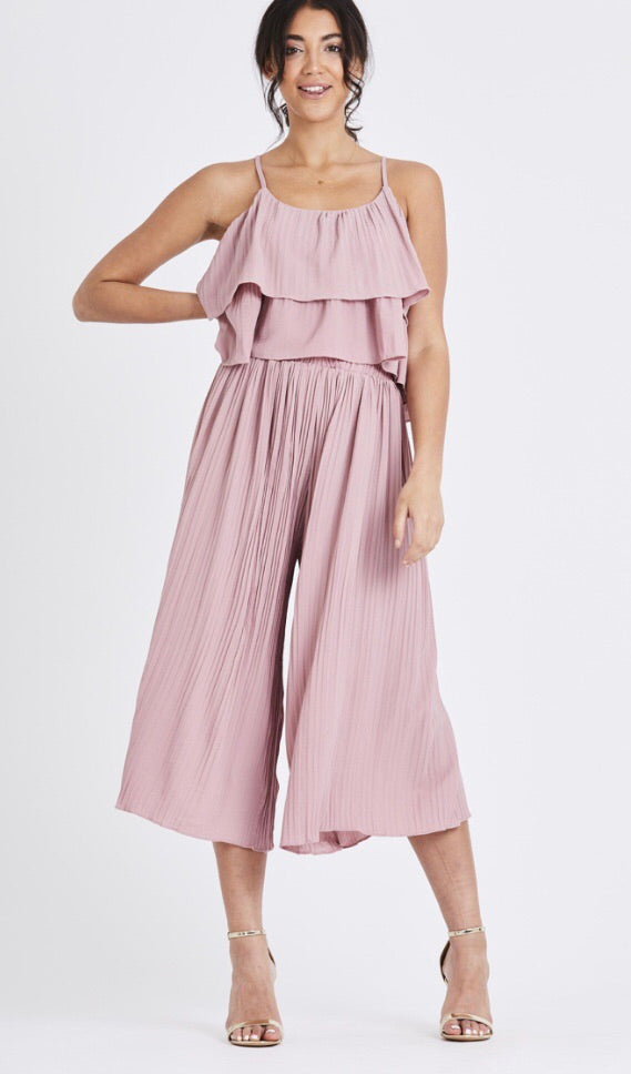 Pleated Two Piece Set - Pink