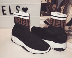 Fendi Inspired FF Sock Trainers