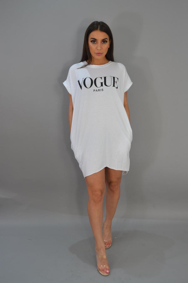 Vogue T - Shirt Dress - White