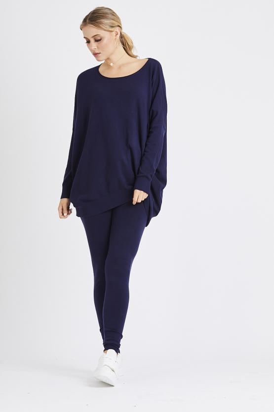 Light Knit Soft Touch Loungeset - Navy