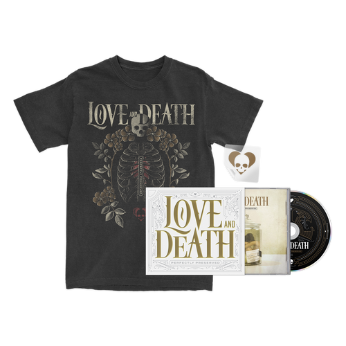 Love and Death - Limited Edition CD + Ribcage T-Shirt Bundle - SOLD OUT