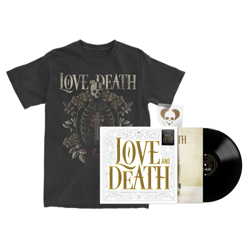 Love and Death - Limited Edition Vinyl (B) + Ribcage T-Shirt Bundle