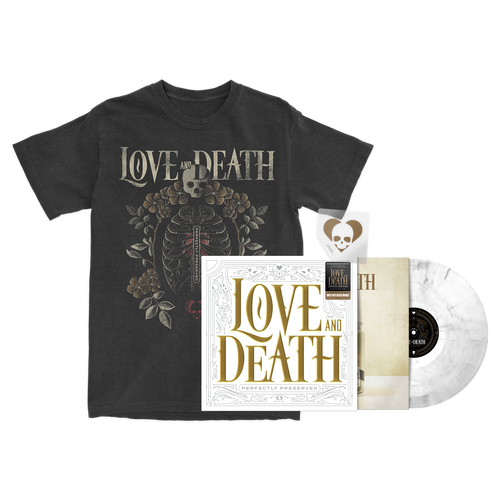 Love and Death - Limited Edition Vinyl + Ribcage T-Shirt Bundle - SOLD OUT