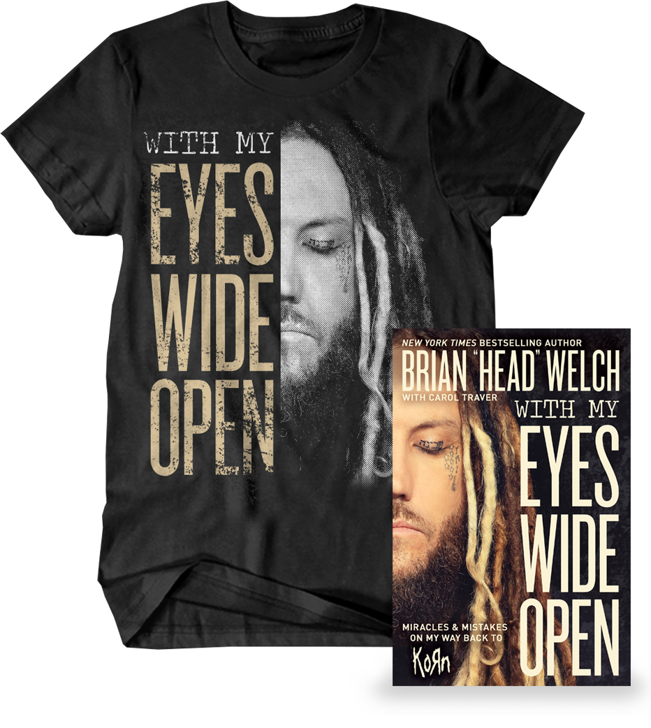 WITH MY EYES WIDE OPEN - SHIRT + BOOK BUNDLE