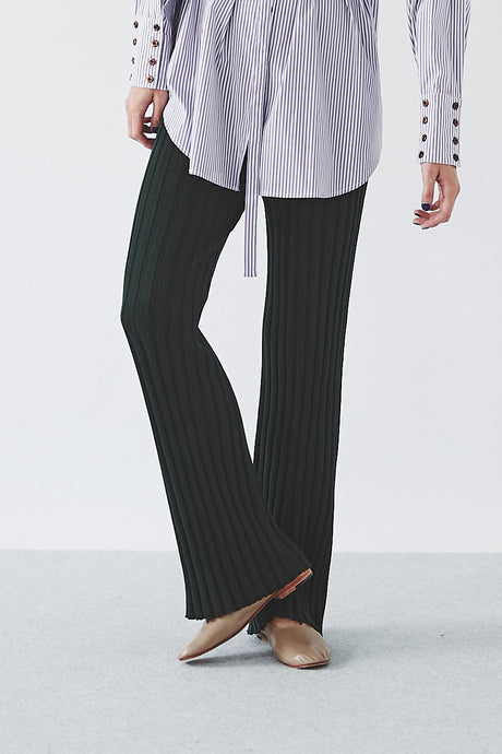Cotton Silk Rib Pants