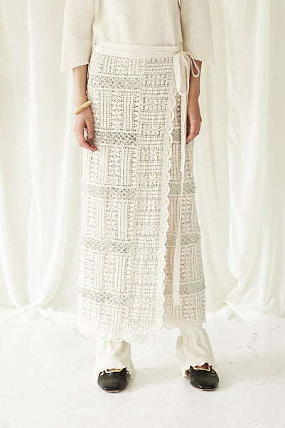 Rustic Lace Wrap Skirt
