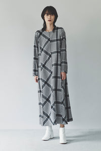 Asymmetry Plaid Dress