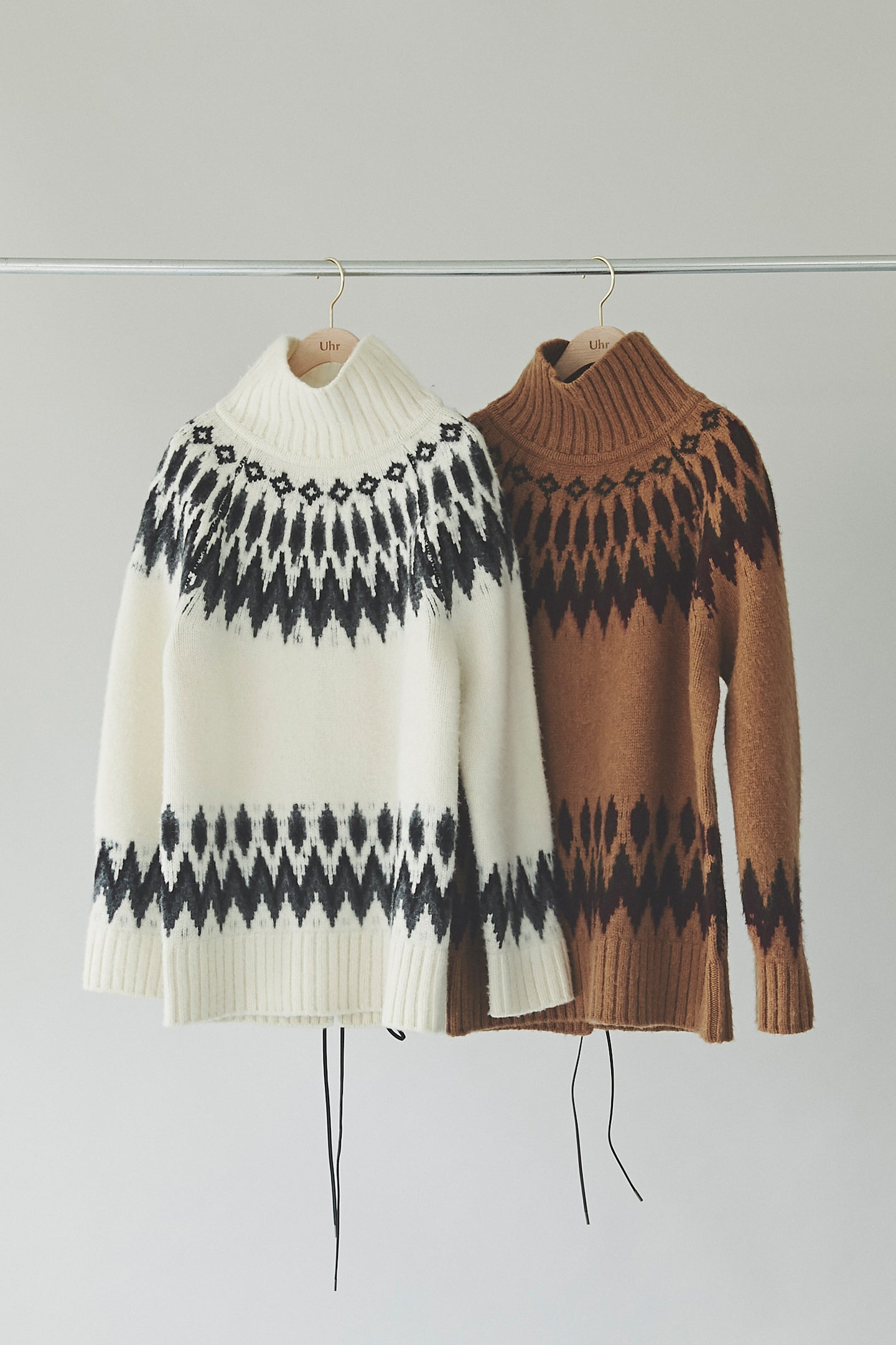 Back Lace-up Nordic Knit