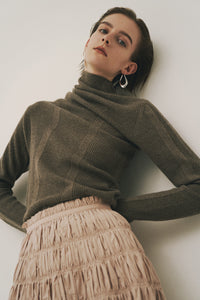 Asymmetrical Highneck Knit