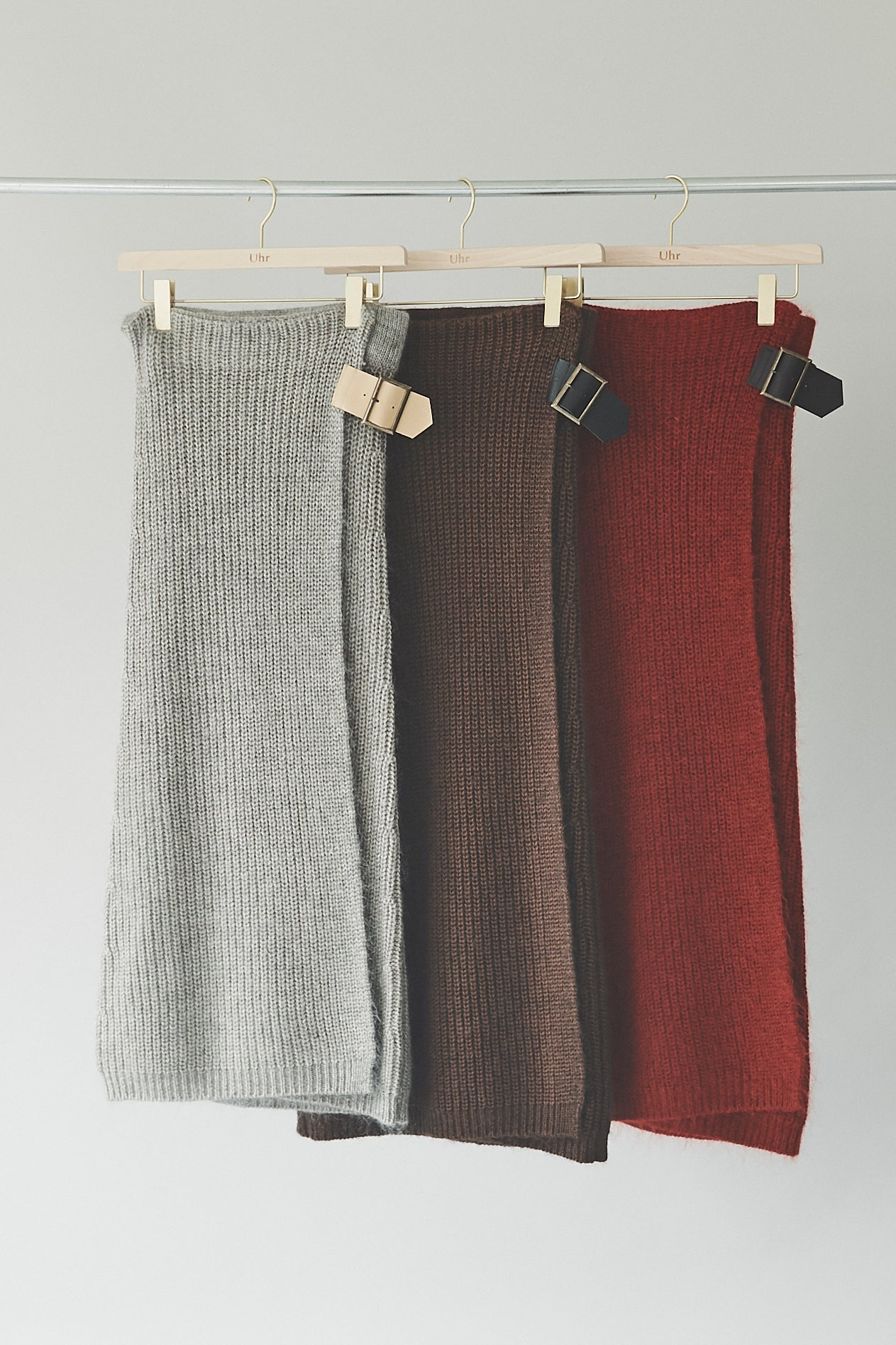 Belted Wrap Knit Skirt
