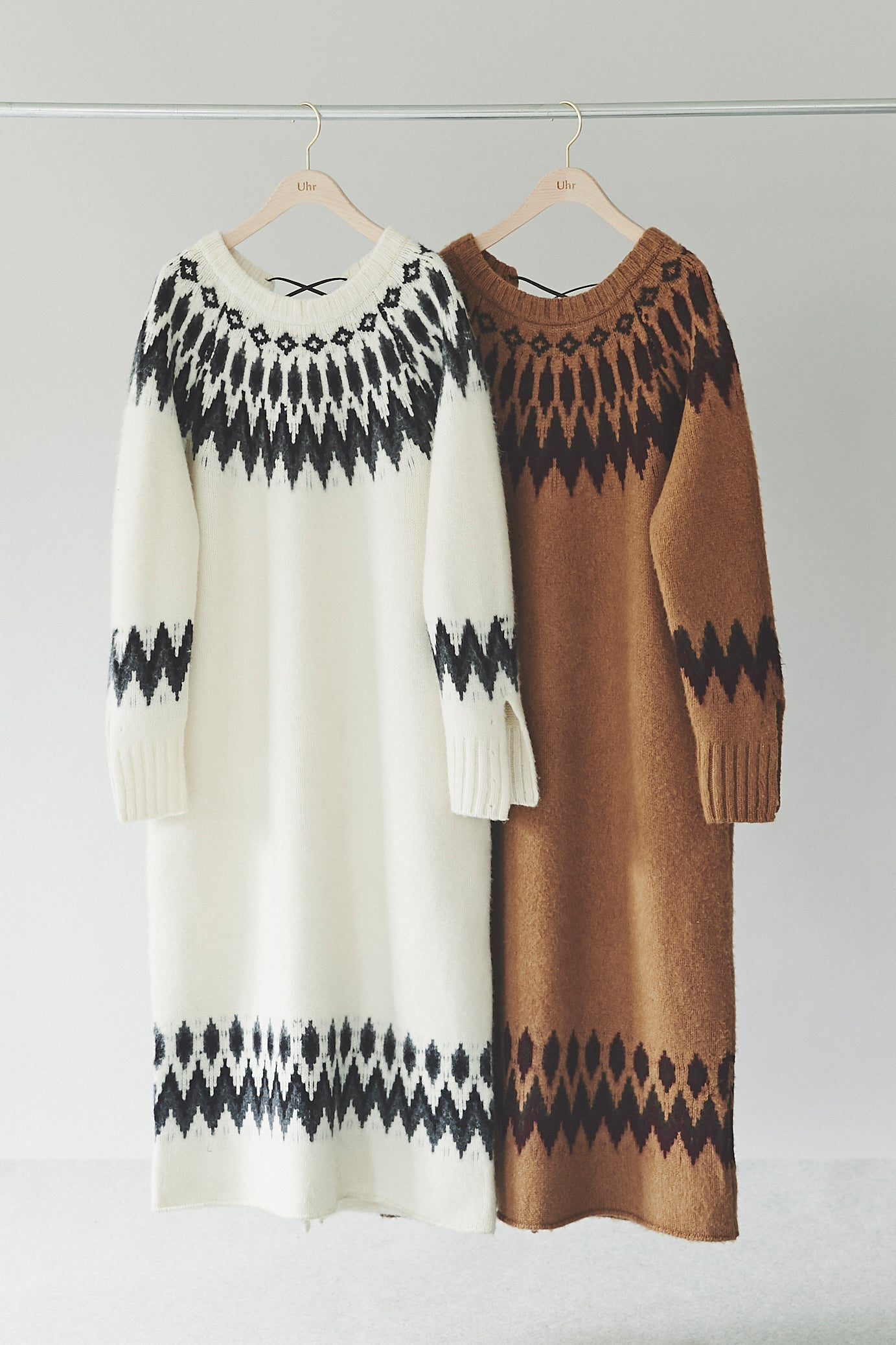 Back Lace-up Nordic Knit Dress
