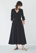 Seersucker Wrap Dress