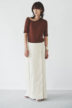 Silk Nep Long Skirt