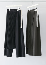 Pleated Skirt Pants