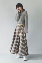 Plaid Flare Wrap Skirt