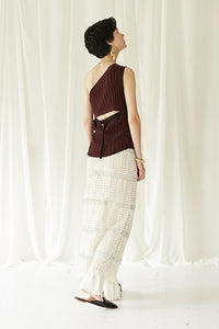 Back open One shoulder Knit