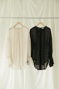 Open back Shirring Blouse