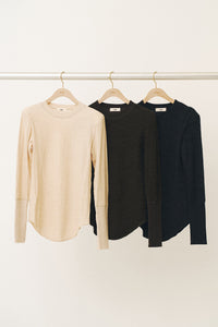 Wool Power Shoulder LS Tee