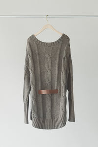 Big Cable Belted Knit