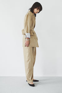 Linen Double-breasted Jacket