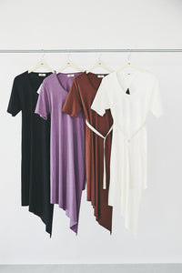 Open-back Asymmetry T-shirts