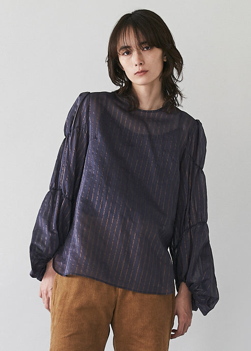 Cotton Silk Sheer Blouse