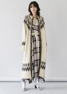 Nordic Long Knit Coat