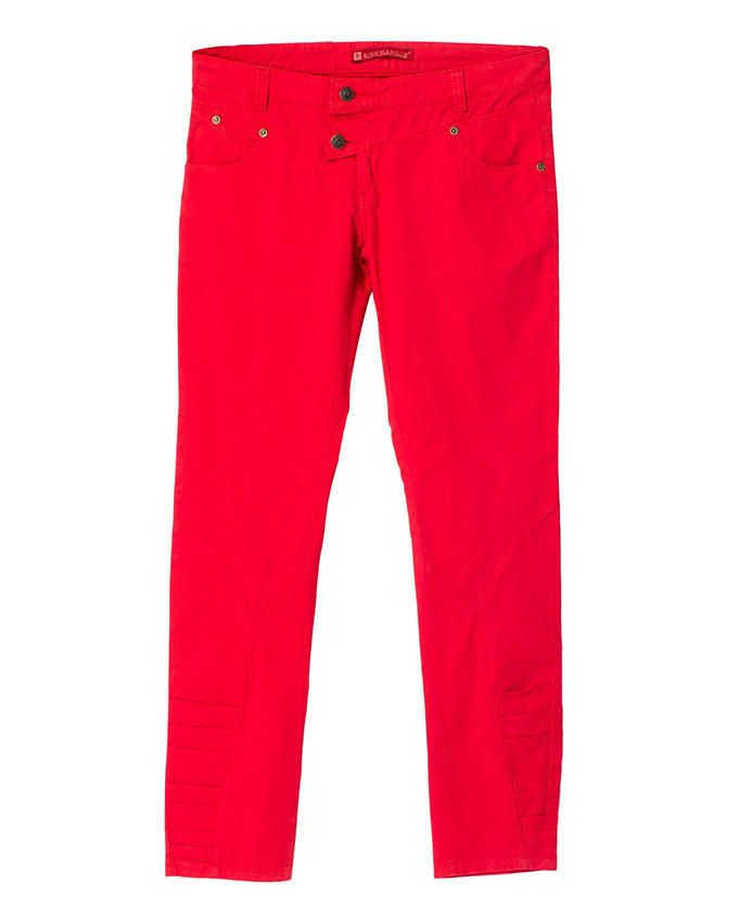 Ladies Trouser ModernFit Red - Bien Habille Pakistan