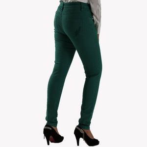 Ladies Jeans Skinny Fit Green - Bien Habille Pakistan
