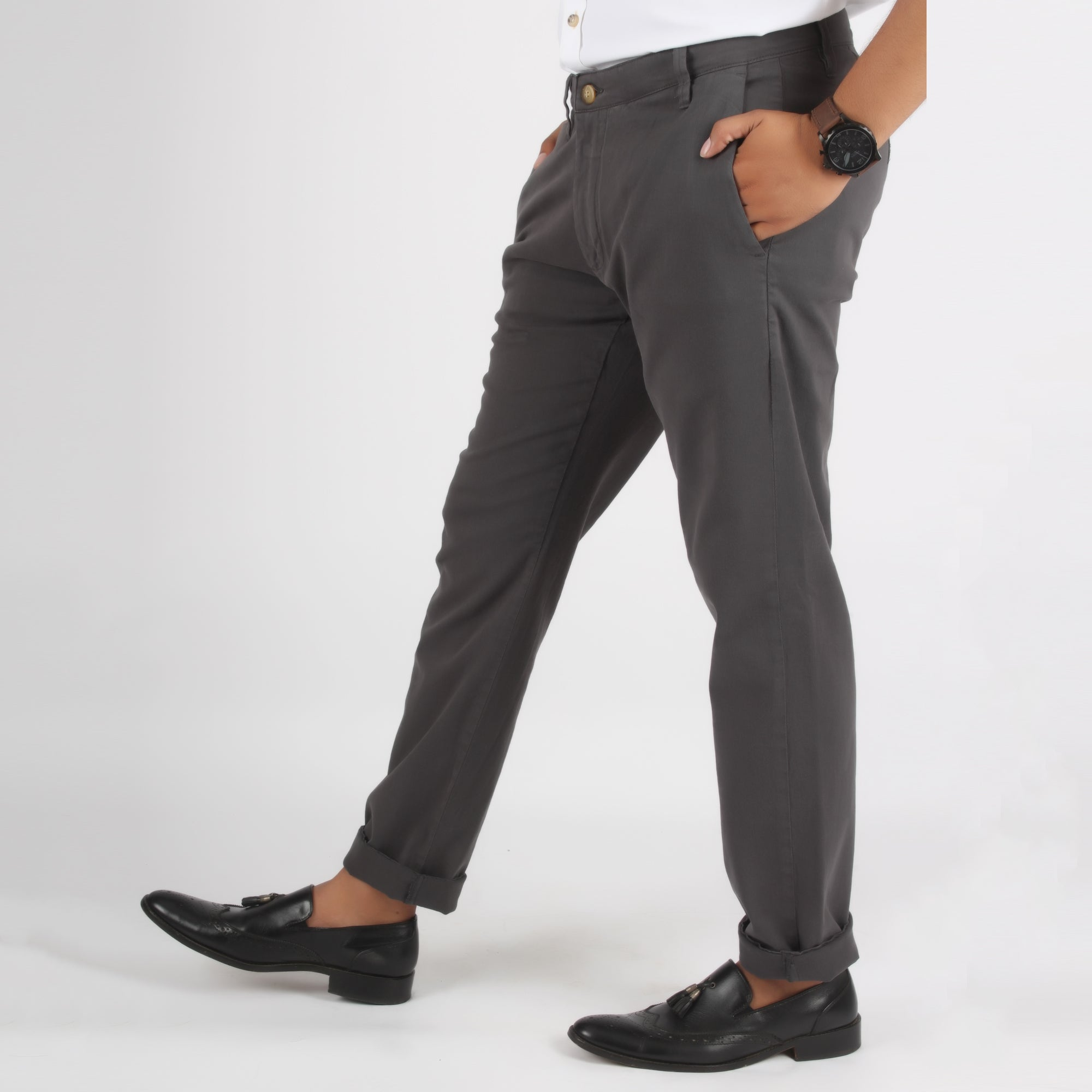Cotton Jeans Dark Grey - Bien Habille Pakistan