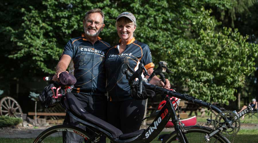 This photo is from the 2016 Cruzbike Ride Retreat when we first heard Joy and Keith's stories of adventure on their Silvios. They're amazing!